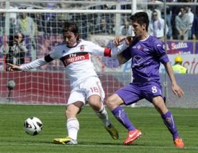 Две спорни дузпи спряха Милан срещу Фиорентина (видео)