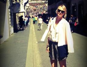 Шарапова като туристка в Рим