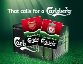 Carlsberg иска да те прати на мачове на Арсенал и Ливърпул - виж как
