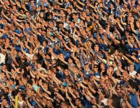 Феновете на Левски отпразнуваха по улиците успеха над Лудогорец (видео)