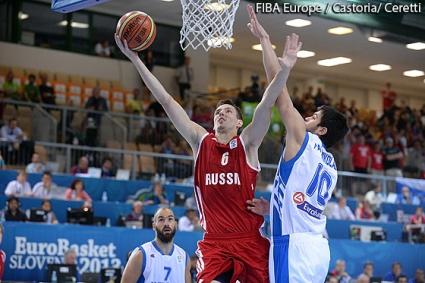 Гърция удари Русия за втора победа на Евробаскет 2013