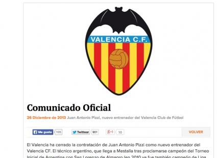Официално: Валенсия обяви идването на Пици