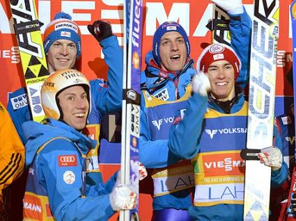 Австрия спечели отборното състезание от Световната купа по ски скокове в Лахти