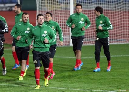 Всички национали тренираха преди мача с Беларус