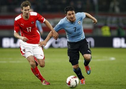 Два гола и две греди в двубоя на Австрия с Уругвай (видео)