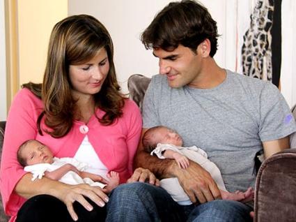 Федерер спира временно с тениса заради жена си и бъдещото им дете?