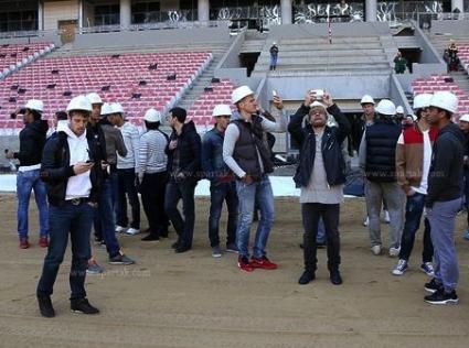 Футболистите на Спартак (Москва) посетиха новия си дом (видео+галерия)