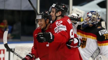Швейцария записа първа победа на световното първенство по хокей на лед