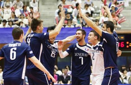 Франция даде гейм на Япония в Световната лига