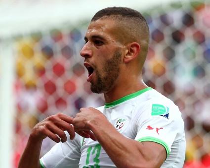 Ислам Слимани беше избран за играч на мача Южна Корея - Алжир