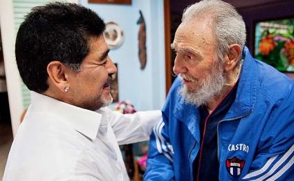 Фидел Кастро поздрави Марадона