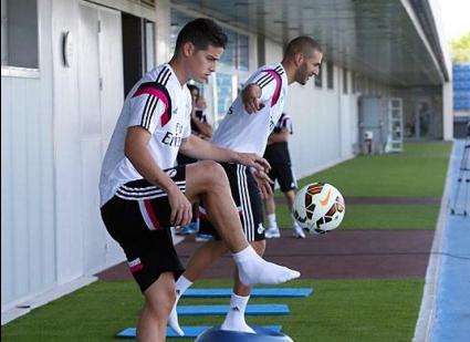 Хамес вече тренира с Реал Мадрид