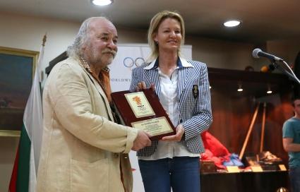 Боян Радев с награди от БОК, МВР и БФС