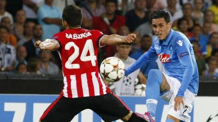 Наполи и Атлетик (Билбао) си вкараха по един гол и оставиха развръзката за реванша (видео)