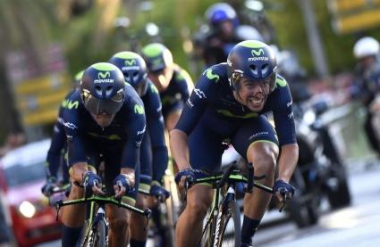 Мовистар спечели първия етап от колоездачната обиколка на Испания