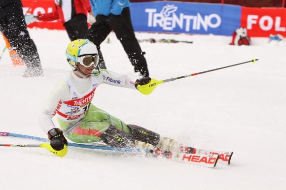 Алберт Попов завърши на второ място в слалома в Кранска Гора