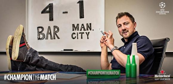 Йежи Дудек беше гост на #ChampionTheMatch на Heineken за Барса - Сити
