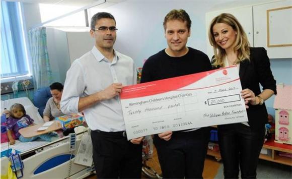 Стилиян направи дарения на детска болница