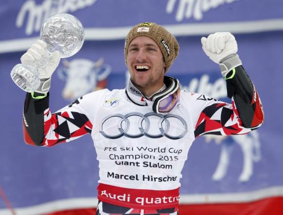Хиршер спечели и дисциплината слалом с победа в Мерибел