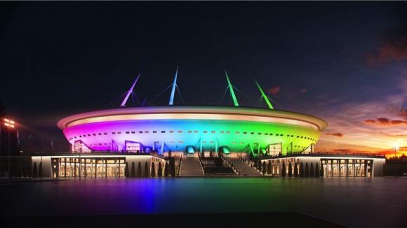 Новият стадион на Зенит е готов на 70%