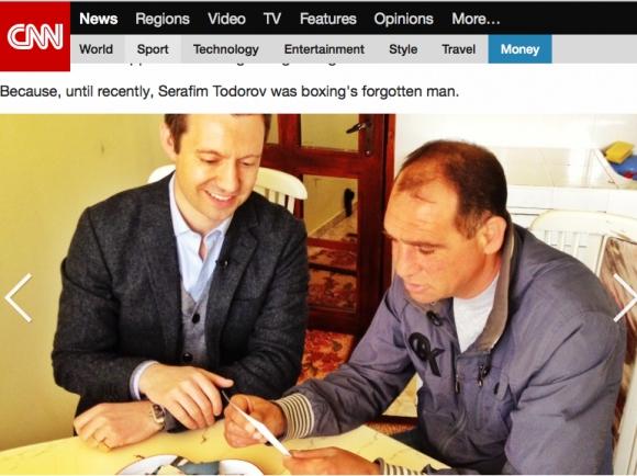 CNN на крака при Сарафа - Трагичната приказка на човека, победил Флойд Мейуедър (уникално видео)