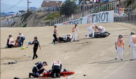 Двама испански мотоциклетисти загинаха на Лагуна Сека (ВИДEО)