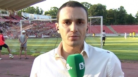 Репортер на bTV пострада на контролата на ЦСКА след хвърлена по него пиротехника (видео)