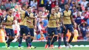 Арсенал прегази Лион с шест гола, четири от които за девет минути (видео)