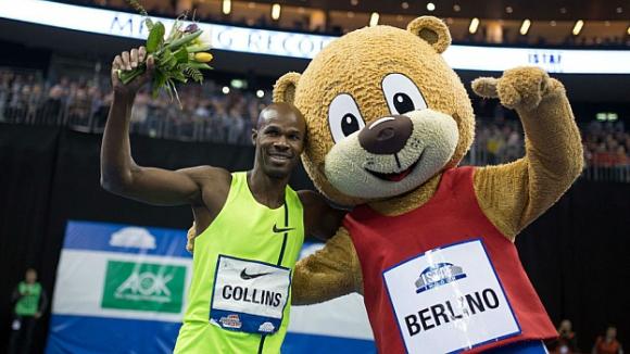 39-годишният Ким Колинс с победа на 100 м в Берлин