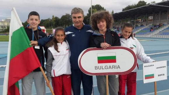 Злато и два сребърни медала за България на европейските детски лекоатлетически игри в Бърно