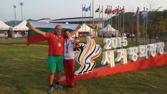 Георги Иванов и Ваня Стамболова с бронзови медали на Световните военни игри