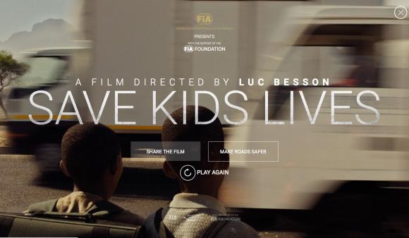 """Спасете детски животи"" - филм на Люк Бесон и ФИА"