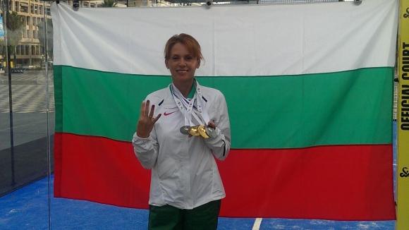 Красимира Чахова с два златни и два сребърни медала от Европейските игри за ветерани