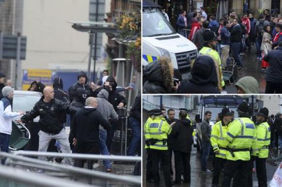 Сблъсъци в Манчестър преди Сити - Севиля (видео)