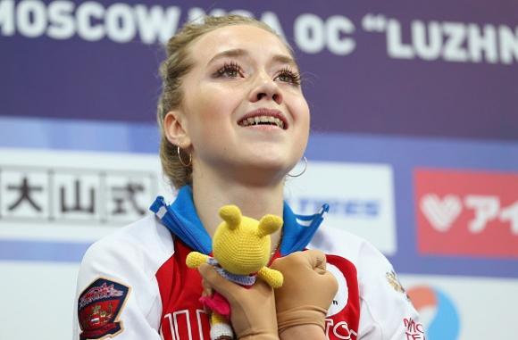 Руски подиум при жените на турнира Гран При в Москва