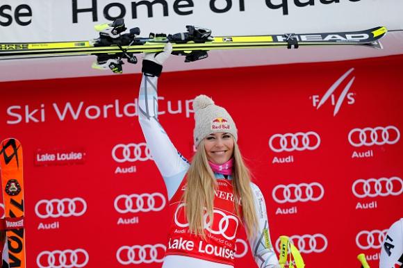 Линдзи Вон триумфира в спускането в Лейк Луис (ВИДЕО)