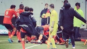 Седем гола в дербито на Бретан