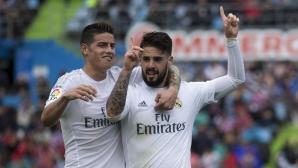 Реал Мадрид вкара 5 гола и е само на точка от Барса (видео+галерия)