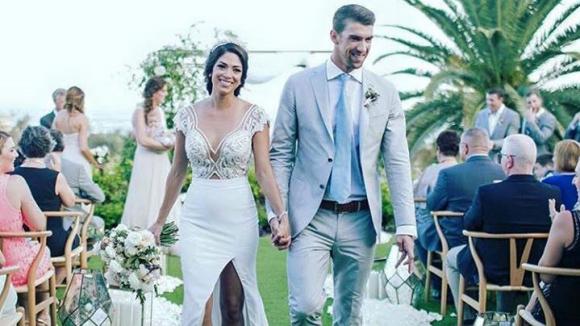 Фелпс публикува първа снимка от тайната си сватба