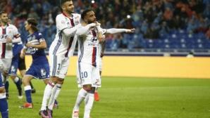 Лион с важни три точки в Лига 1 (видео)