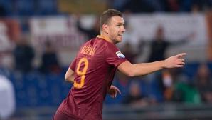 """Джеко не спира да бележи, но Пескара измъчи Рома на """"Олимпико"""" (видео)"""