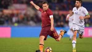 Дузпа в добавеното време прати Рома на полуфинал срещу Лацио (видео)