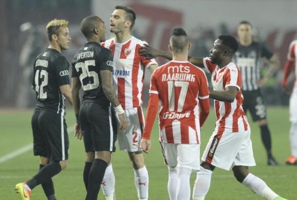 Късен гол спаси Партизан в дербито с Цървена звезда