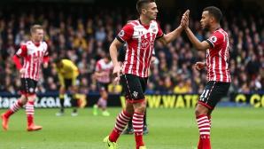 Седем гола и радост за Саутхамптън в Уотфорд