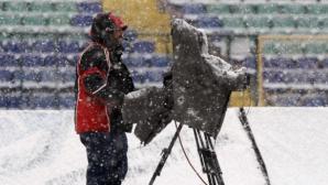 Сняг отложи мача от Трета лига