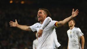 Мечтано сбогуване за Подолски - с победен гол срещу Англия (видео + галерия)