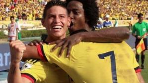 Хамес Родригес носи победа на Колумбия (видео)