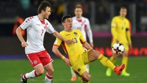 Голмайсторът на Първа лига с фрапантен пропуск за Румъния срещу Дания (видео)