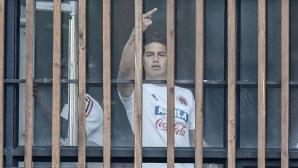 Хамес размаха среден пръст и скандализира Колумбия
