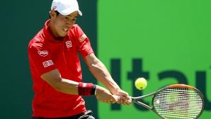 Кей Нишикори се класира за четвъртфиналите в Маями